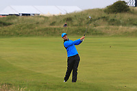 Lucas Bjerregaard (DEN) on the 11th during 1st round of the 148th Open Championship, Royal Portrush golf club, Portrush, Antrim, Northern Ireland. 18/07/2019.<br /> Picture Thos Caffrey / Golffile.ie<br /> <br /> All photo usage must carry mandatory copyright credit (© Golffile | Thos Caffrey)