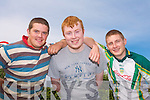 Denis O'Shea (Camp), Jeffrey O'Connor (Camp) and Gerard Mcelligott (Kilflynn) at Camp Fair on Monday.