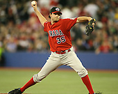 March 7, 2009:  Pitcher Chris Begg (35) of Canada during the first round of the World Baseball Classic at the Rogers Centre in Toronto, Ontario, Canada.  Team USA defeated Canada 6-5 in both teams opening game of the tournament.  Photo by:  Mike Janes/Four Seam Images