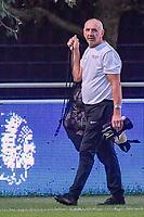 Aalst's goalkeepercoach Mario De Bisschop pictured during a female soccer game between  AA Gent Ladies and Eendracht Aalst on the second matchday of the 2020 - 2021 season of Belgian Scooore Womens SuperLeague , friday 4 th of september 2020  in Oostakker , Belgium . PHOTO SPORTPIX.BE | SPP | STIJN AUDOOREN