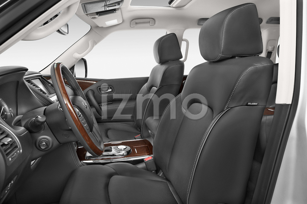 Front seat view of a 2015 Infiniti QX80 3.5 5 Door SUV Front Seat car photos