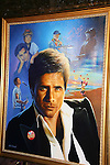 John Stamos painting by artist Jim Warren at the Fame-Wall World Premiere Launch Party and Inaugural Portrait Unveiling Honoring John Stamos currently starring in Broadway's Bye, Bye Birdie on September 10, 2009 at Trattoria Dopo Teatro, NYC - now Home of New Fame-Wall, NYC. Fame-Wall salutes those who have inspired people and made a significant impact through the world of art and entertainment. (Photo by Sue Coflin/Max Photos)
