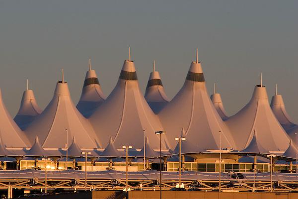 Sunrise at Denver International Airport, DIA, Denver, Colorado. .  John offers private photo tours in Denver, Boulder and throughout Colorado. Year-round Colorado photo tours.