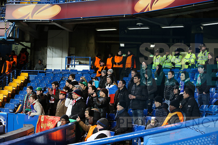 The Rubin Kazin away fans - Chelsea vs FC Rubin Kazan - Europa League quarter-final - Stamford Bridge Stadium - London - 4th April 2013 - Pic Charlie Forgham-Bailey/Sportimage