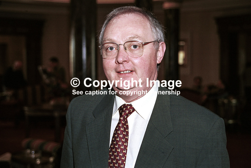 John Higgins, General Secretary, Progressive Democrats, political party, Rep of Ireland. Ref: 199904018. Taken: National Conference, Galway, April, 1999..Copyright Image from Victor Patterson, 54 Dorchester Park, Belfast, UK, BT9 6RJ..Tel: +44 28 9066 1296.Mob: +44 7802 353836.Voicemail +44 20 8816 7153.Skype: victorpattersonbelfast.Email: victorpatterson@mac.com.Email: victorpatterson@ireland.com (back-up)..IMPORTANT: If you wish to use this image or any other of my images please go to www.victorpatterson.com and click on the Terms & Conditions. Then contact me by email or phone with the reference number(s) of the image(s) concerned.