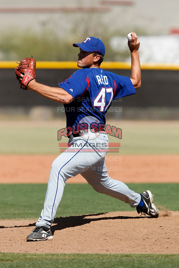 Evan Reed -Texas Rangers - 2009 spring training.Photo by:  Bill Mitchell/Four Seam Images
