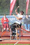 IPC European Athletics Championship 2014<br /> Daniela Todorova (BUL)<br /> Women's discus throw F55<br /> Swansea University<br /> 19.08.14<br /> &copy;Steve Pope-SPORTINGWALES