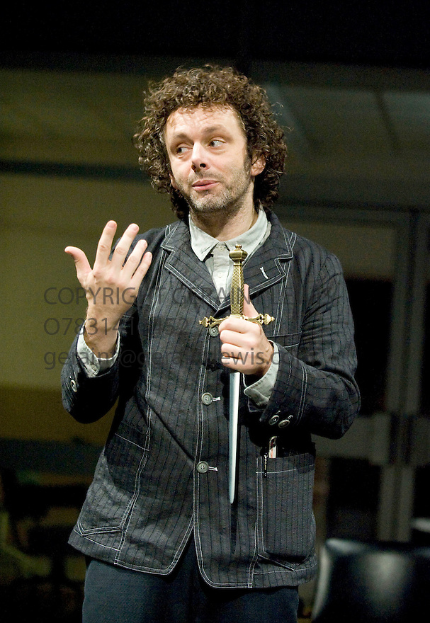 Hamlet by William Shakespeare, directed by Ian Rickson. With Michael Sheen as Hamlet. Opens at The Young Vic Theatre on 9/11/11  . CREDIT Geraint Lewis