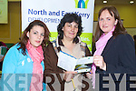 Aoife O'Hanlon, Veronica O'Hanlon talking to Eilish Broderick at the North and East Kerry Development stand at the Options careers day at the Brandon Hotel, Tralee on Wednesday which offered information on Education and Training for adults.