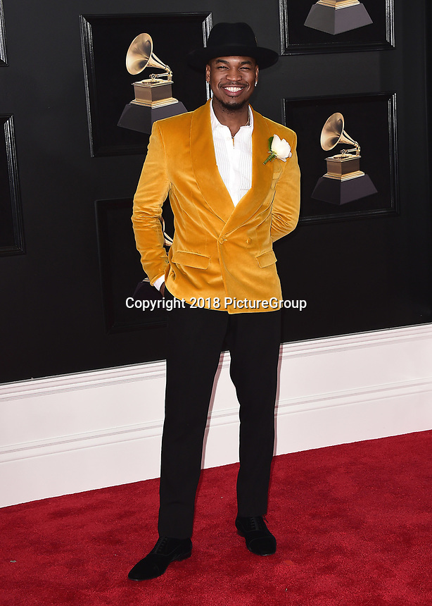 NEW YORK - JANUARY 28:  Ne-Yo at the 60th Annual Grammy Awards at Madison Square Garden on January 28, 2018 in New York City. (Photo by Scott Kirkland/PictureGroup)