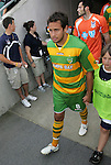 14 May 2010: Tampa Bay's Jeremy Christie (NZL) enters the field for the start of the game. The FC Tampa Bay Rowdies defeated the Carolina RailHawks 2-1 at WakeMed Stadium in Cary, North Carolina in a regular season U.S. Soccer Division-2 soccer game.