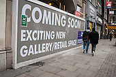 Construction of a new gallery and retail space in Shoreditch, London, a run-down commercial district  also known as Silicon Roundabout, which is undergoing gentrification as it becomes a centre for web-based companies and IT start-ups.
