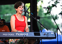Marcia Ball playing at the YLC's Lafayette Square concert series in New Orleans, LA.
