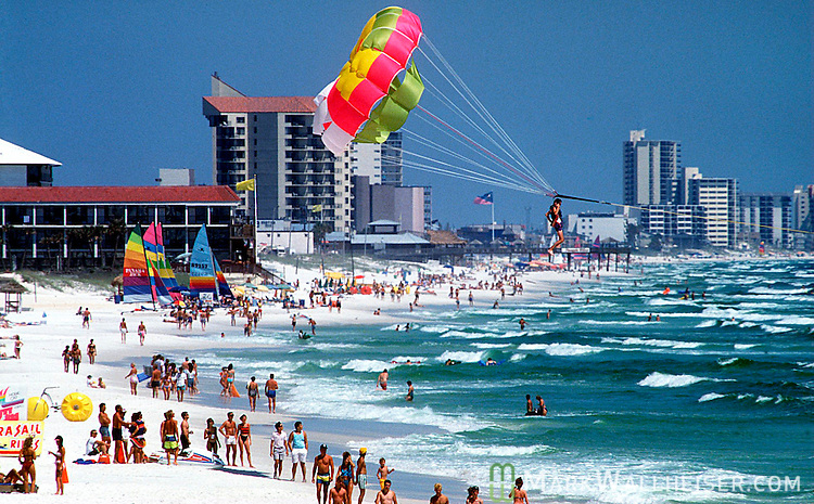 The western end of Panama City Beach, Florida January 21, 1997.