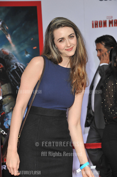 """Madeline Zima at the Los Angeles premiere of """"Iron Man 3"""" at the El Capitan Theatre, Hollywood..April 24, 2013  Los Angeles, CA.Picture: Paul Smith / Featureflash"""