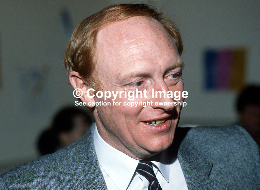 Neil Kinnock, MP, leader, Labour Party, UK, annual conference, October, 1984, 19840122NK1.<br />