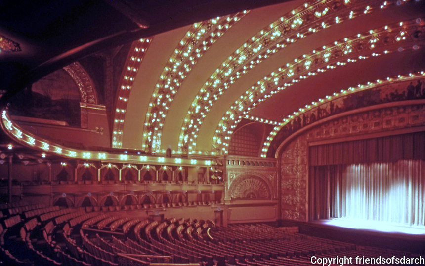 Louis Sullivan: Auditorium, Auditorium Bldg. Chicago. Photo '78.