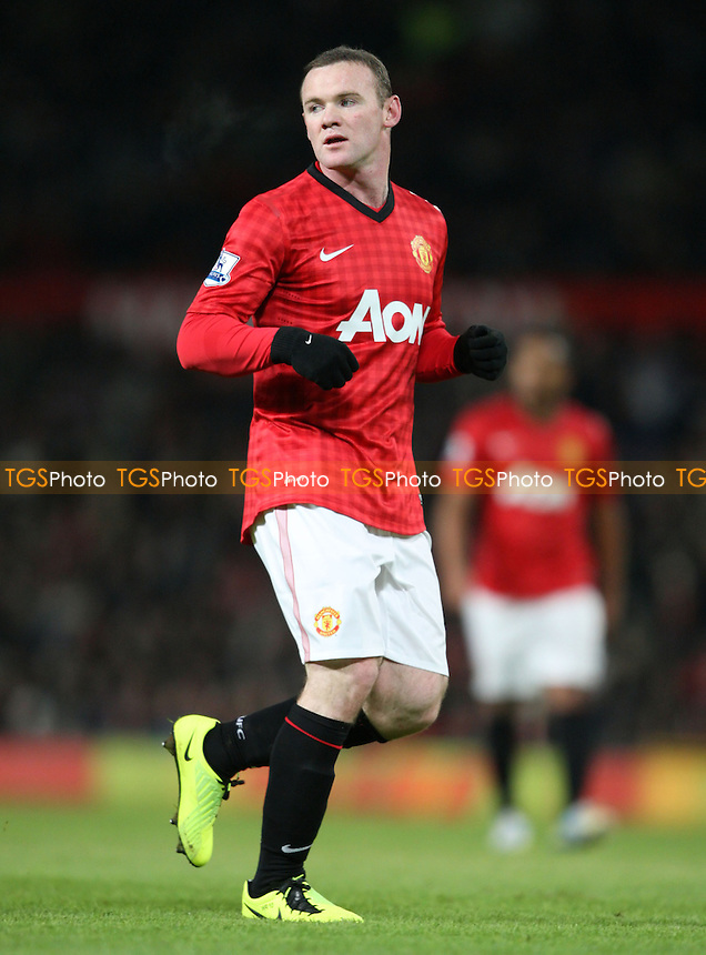 Wayne Rooney of Manchester United - Manchester United vs West Ham United, FA Cup 3rd Round Replay at Old Trafford, Manchester - 16/01/13 - MANDATORY CREDIT: Rob Newell/TGSPHOTO - Self billing applies where appropriate - 0845 094 6026 - contact@tgsphoto.co.uk - NO UNPAID USE.