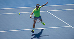 Andreas Seppi (ITA) stuns Roger Federer (SUI) with a win, defeating him 6-4, 7-6, 4-6, 7-6 at the Australian Open being played at Melbourne Park in Melbourne, Australia on January 23, 2015