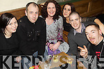 Ringing in The New Year in The Olde Attic Bar in Ballybunion were l/r Michelle O'Connell, Mark Allen, Catriona Kennedy, Elaine Guerin, Dave Kelly and John Walsh................................................................................................................................................................................................................................................................................ ............