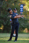 9th February 2018, Lake Karrinyup Country Club, Karrinyup, Australia; ISPS HANDA World Super 6 Perth golf, second round; Thorbjorn Olesen (DEN) watches the flight of his ball