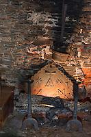 Europe/France/Aquitaine/24/Dordogne/Jumilhac-le-Grand: Château de Jumilhac - Plaque de cheminée portant des  symboles de l'alchimie