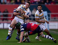 Worcester's Josh Adams in action during todays match<br /> <br /> Photographer Bob Bradford/CameraSport<br /> <br /> Gallagher Premiership - Bristol Bears v Worcester Warriors - Saturday 23rd March 2019 - Ashton Gate - Bristol<br /> <br /> World Copyright © 2019 CameraSport. All rights reserved. 43 Linden Ave. Countesthorpe. Leicester. England. LE8 5PG - Tel: +44 (0) 116 277 4147 - admin@camerasport.com - www.camerasport.com