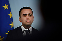 Luigi Di Maio in conferenza stampa