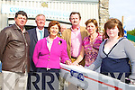 The O'Connor family with the boat that was named after their daughter Kayleigh in memory of achievements by Commercial Rowing club at the blessing of their two new boats in the boathouse at Ross Castle Killarney on Friday l-r: Tadgh O'Connor, John O'Donoghue, Kitty Lovett-Hannafin, Matthew, Kayleigh and Ailbhe O'Connor   Copyright Kerry's Eye 2008