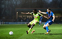 Bolton Wanderers' Josh Emmanuel competing with Rochdale's Jimmy Ryan (right) <br /> <br /> Photographer Andrew Kearns/CameraSport<br /> <br /> The EFL Sky Bet League One - Rochdale v Bolton Wanderers - Saturday 11th January 2020 - Spotland Stadium - Rochdale<br /> <br /> World Copyright © 2020 CameraSport. All rights reserved. 43 Linden Ave. Countesthorpe. Leicester. England. LE8 5PG - Tel: +44 (0) 116 277 4147 - admin@camerasport.com - www.camerasport.com