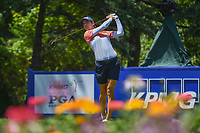 Azahara Munoz (ESP)  watches her tee shot on 13 during round 2 of the 2018 KPMG Women's PGA Championship, Kemper Lakes Golf Club, at Kildeer, Illinois, USA. 6/29/2018.<br /> Picture: Golffile | Ken Murray<br /> <br /> All photo usage must carry mandatory copyright credit (&copy; Golffile | Ken Murray)