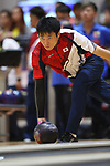 Tomoyuki Sasaki (JPN), <br /> AUGUST 23, 2018 - Bowling : <br /> Men's Trios Block 2 <br /> at Jakabaring Sport Center Bowling Center <br /> during the 2018 Jakarta Palembang Asian Games <br /> in Palembang, Indonesia. <br /> (Photo by Yohei Osada/AFLO SPORT)