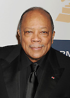 BEVERLY HILLS, CA - FEBRUARY 09: Quincy Jones arrives at the The 55th Annual GRAMMY Awards - Pre-GRAMMY Gala And Salute To Industry Icons Honoring L.A. Reid at the Beverly Hilton Hotel on February 9, 2013 in Beverly Hills, California.PAP0213JP405.PAP0213JP405. Nortephoto