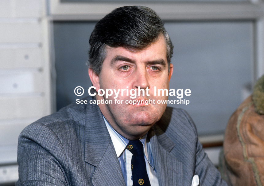 John Taylor, MEP,  Unionist Party, N Ireland, photographed prior to a joint mission of Unionist parties to North America, January 1982, to promote the Unionist cause. 19820100002JT<br />