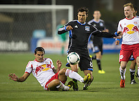 March 10th, 2013: Chris Wondolowski and Tim Cahill in action during a game at Buck Shaw Stadium, Santa Clara, Ca.   Earthquakes defeated Red Bulls 2-1