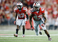Ohio State Buckeyes linebacker Darron Lee (43) during the college football game between the Ohio State Buckeyes and the Virginia Tech Hokies at Ohio Stadium in Columbus, Saturday afternoon, September 6, 2014. The Virginia Tech Hokies defeated the Ohio State Buckeyes 35 - 21. (The Columbus Dispatch / Eamon Queeney)