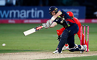 Sam Billings bats for Kent during the T20 Quarter-Final game between Kent Spitfires and Lancashire Lightning at the St Lawrence ground, Canterbury, on Aug 23, 2018.