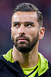 Goalkeeper Rui Patricio of Sporting CP reacts prior to the UEFA Europa League quarter final leg one match between Atletico Madrid and Sporting CP at Wanda Metropolitano on April 5, 2018 in Madrid, Spain. Photo by Diego Souto / Power Sport Images