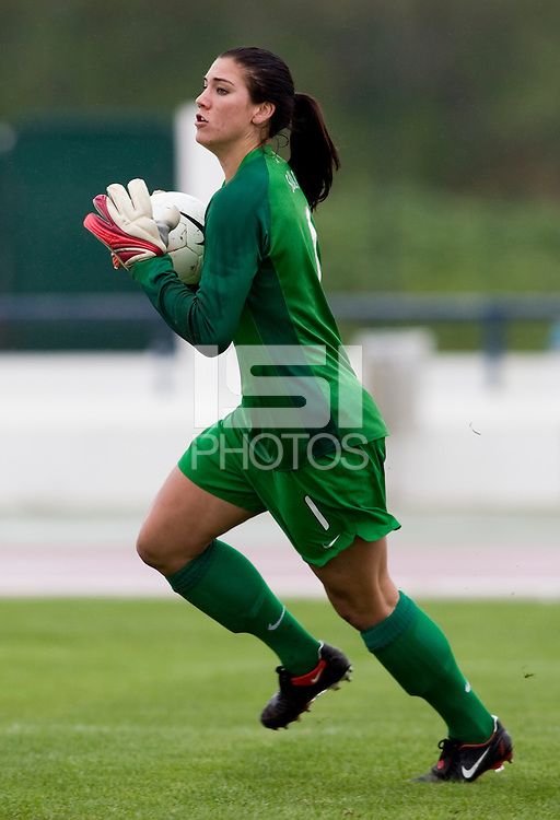 Hope Solo. The USWNT defeated Denmark, 2-0, in Lagos, Portugal during the Algarve Cup.