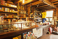 Interior of the Wiseman trading post store, Brooks Range, Wiseman, Alaska.