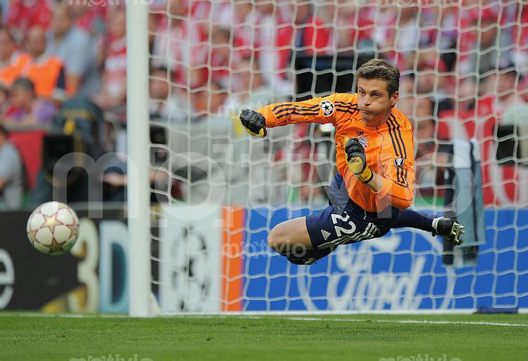 FUSSBALL      CHAMPIONS LEAGUE FINALE     SAISON  2009/2010 FC Bayern Muenchen - Inter Mailand      22.05.2010 Torwart Joerg Butt (FCB)