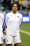 24 October 2014: Sydney Leroux (USA). The United States Women's National Team played the Mexico Women's National Team at PPL Park in Chester, Pennsylvania in a 2014 CONCACAF Women's Championship semifinal game, which serves as a qualifying tournament for the 2015 FIFA Women's World Cup in Canada. The United States won the game 3-0. With the victory the U.S. advanced to the championship game and qualified for next year's Women's World Cup.