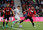 Ander Herrera of Manchester United tackled by Joshua King of Bournemouth during the premier league match at the Vitality Stadium, Bournemouth. Picture date 18th April 2018. Picture credit should read: David Klein/Sportimage