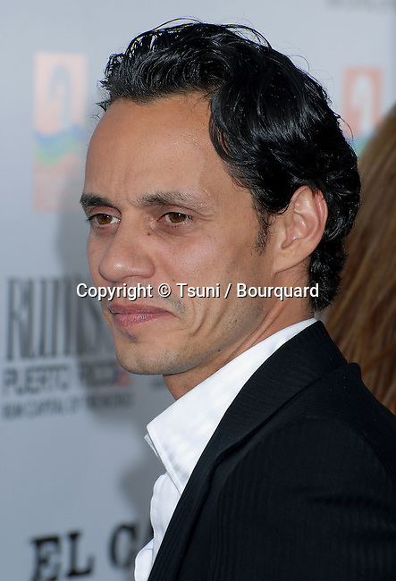 Marc Anthony  arriving at El CANTANTE, Los Angeles Premiere at the DGA Theatre in Los Angeles.<br /> <br /> headshot