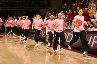 STANFORD, CA - FEBRUARY 14:  (R-L) Forward Jillian Harmon #33, guard Rosalyn Gold-Onwude #21, guard Melanie Murphy #0, guard Lindy La Rocque #15, guard Hannah Donaghe #20, forward Michelle Harrison #5, forward Nnemkadi Ogwumike #30, forward Jayne Appel #2, and forward Kayla Pedersen #14 of the Stanford Cardinal during Stanford's 58-41 win against the California Golden Bears on February 14, 2009 at Maples Pavilion in Stanford, California.