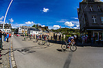 Leading group with Pirimin Lang (IAM Cycling), Michel Koch (Cannondale), Jaco Venter (MTN-Qhubeka), Matteo Bono (Lampre-Merida), Pieter Jakobs (Topsport Vlaanderen) and Marco Minnaard (Wanty Groupe Gobert) at La Roche-En-Ardenne, Belgium, 27 April 2014, Photo by Thomas van Bracht / www.pelotonphotos.com