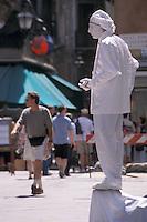 Mime posing in Venice
