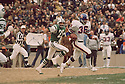 Denver Broncos Billy Thompson (36) during a game against the New York Jets on October 22, 1973 at Shea Stadium in Flushing, New York. Denver Broncos beat the New York Jets  40-28. Billy Thompson played for 13 years all with the Denver Broncos and was a 3-time.(SportPics)