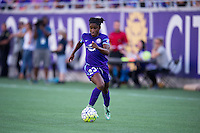 Orlando, Florida - Sunday, May 8, 2016: Orlando Pride forward Jasmyne Spencer (23) during a National Women's Soccer League match between Orlando Pride and Seattle Reign FC at Camping World Stadium.