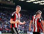 John Lundstram of Sheffield Utd celebrates with the fans during the Championship match at Bramall Lane, Sheffield. Picture date 26th August 2017. Picture credit should read: Simon Bellis/Sportimage